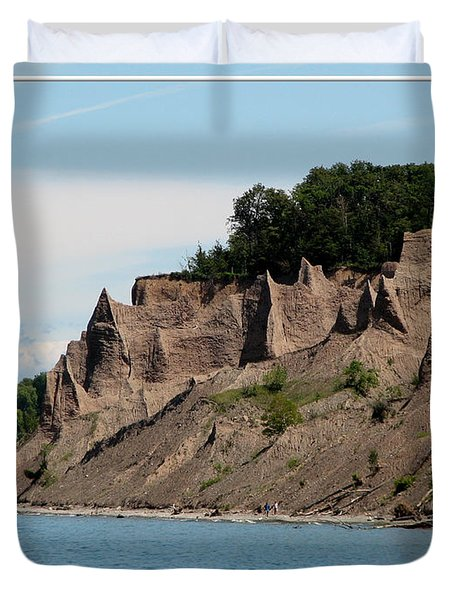 Chimney Bluffs On Lake Ontario Duvet Cover by Rose Santuci-Sofranko