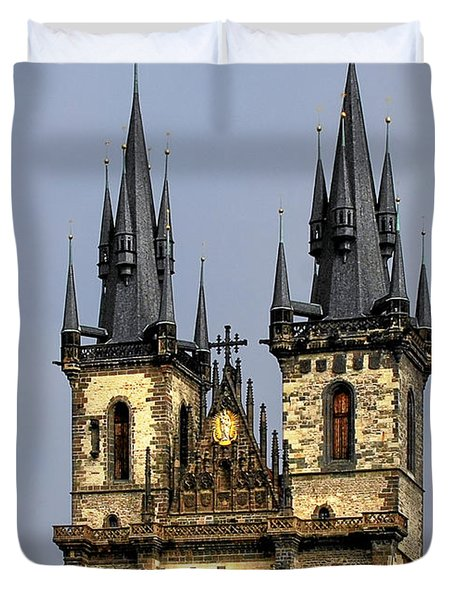 Church of Our Lady Before Tyn - Prague CZ Duvet Cover by Christine Till