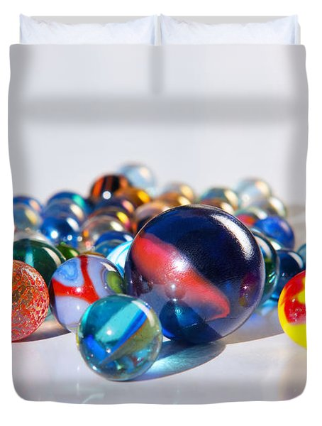 Colorful Marbles Duvet Cover by Carlos Caetano