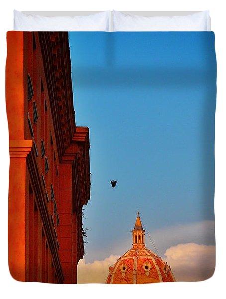 Corona Duvet Cover by Skip Hunt