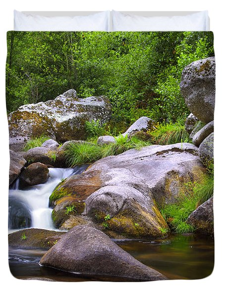 Creek Duvet Cover by Carlos Caetano