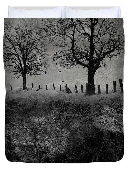 Dark Roost Duvet Cover by Ron Jones