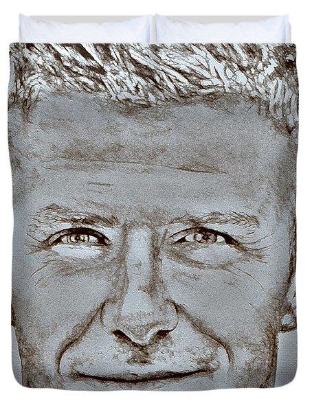 David Beckham In 2009 Duvet Cover by J McCombie