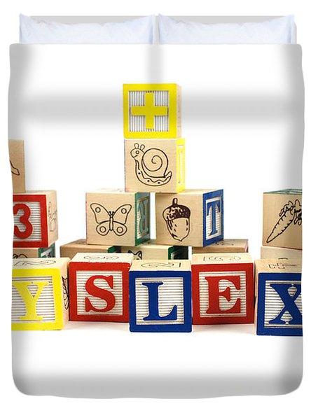 Dyslexia Duvet Cover by Photo Researchers, Inc.