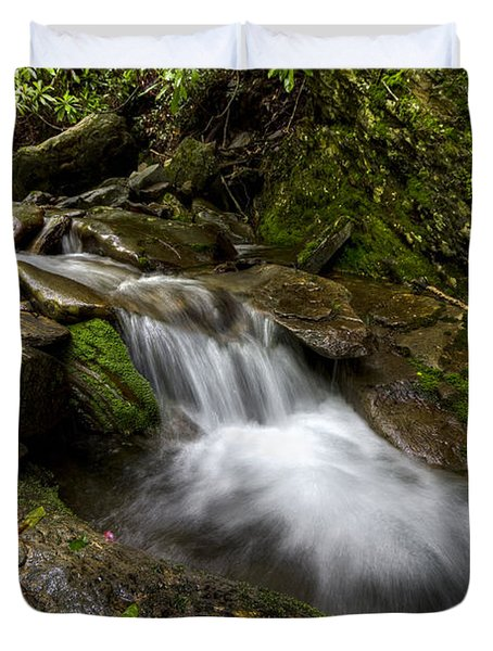 Enchanted Forest Duvet Cover by Debra and Dave Vanderlaan