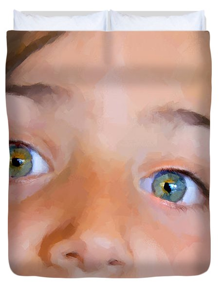 Eyes Have It Duvet Cover by Chuck Staley