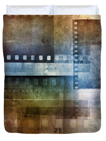 Film negatives Duvet Cover by Les Cunliffe
