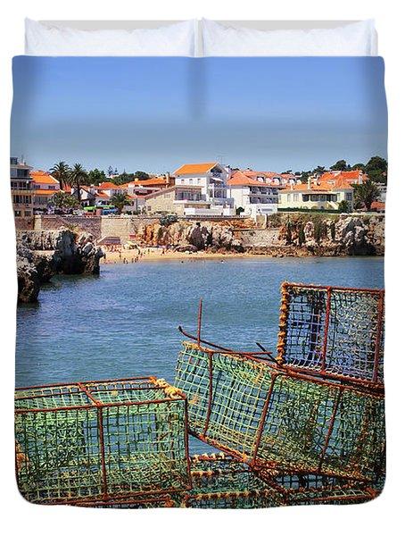 Fishing Traps Duvet Cover by Carlos Caetano