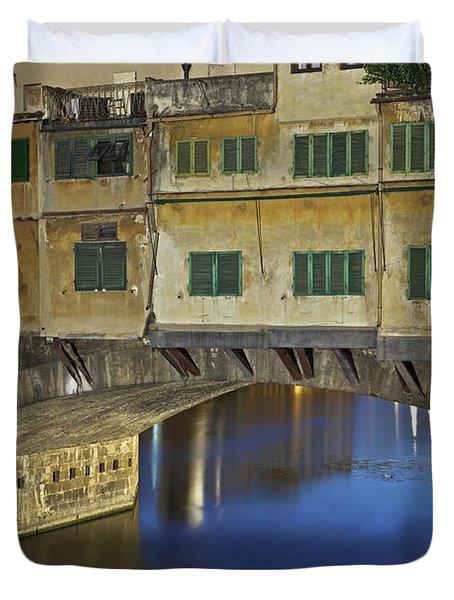 Florence - Ponte Vecchio Duvet Cover by Joana Kruse