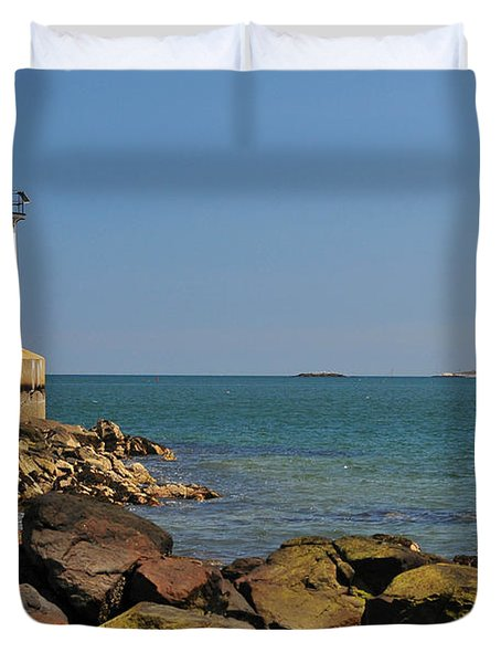 Fort Pickering Light Duvet Cover by Catherine Reusch  Daley
