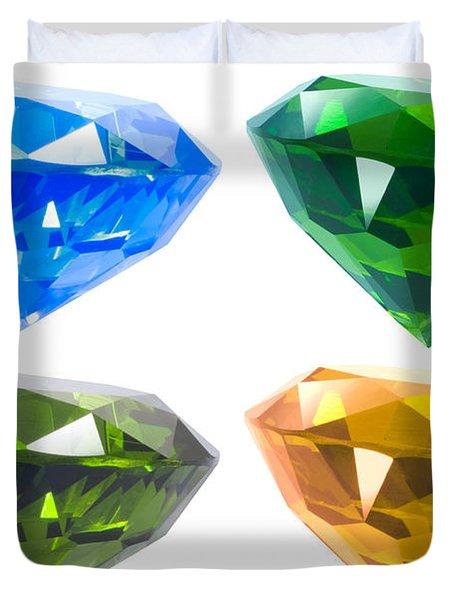 Four diamond Duvet Cover by ATIKETTA SANGASAENG