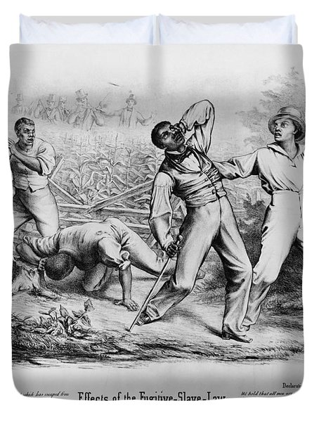Fugitive Slave Law Duvet Cover by Photo Researchers