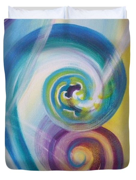 Fusion Duvet Cover by Reina Cottier