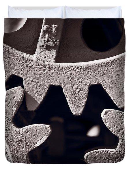 Gears Number 2 Duvet Cover by Steve Gadomski
