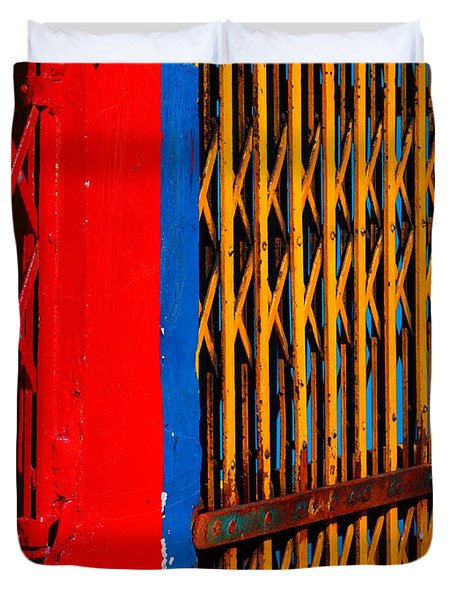 Gilded Cage Duvet Cover by Skip Hunt