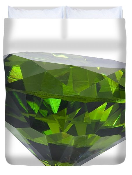 great emerald isolated Duvet Cover by ATIKETTA SANGASAENG