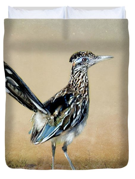 Greater Roadrunner Duvet Cover by Betty LaRue