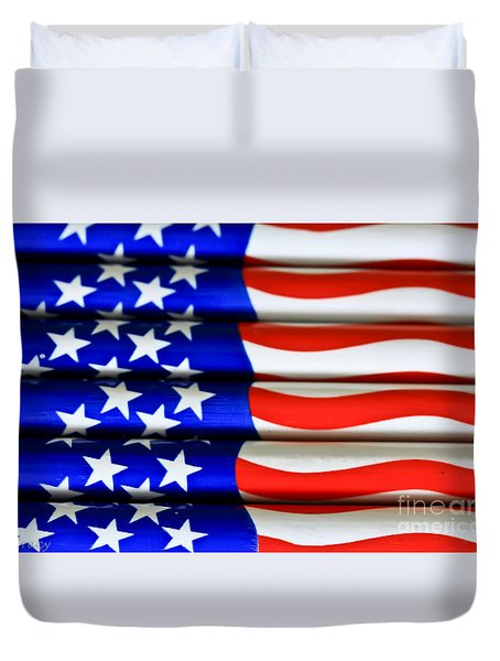 Happy 4th Duvet Cover by Tracy  Hall