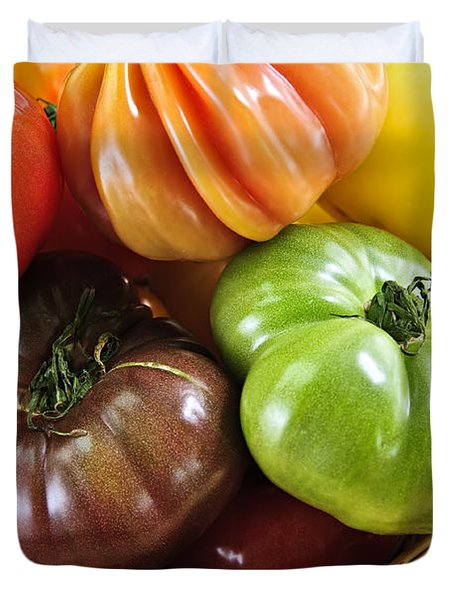 Heirloom Tomatoes Duvet Cover by Elena Elisseeva