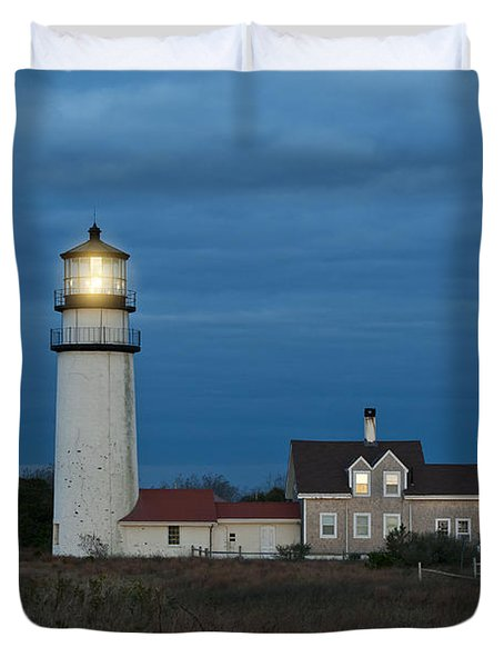 Highland Lighthouse Duvet Cover by John Greim