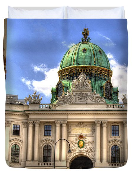 Hofburg Palace - Vienna Duvet Cover by Jon Berghoff
