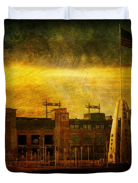 Lambeau Field Duvet Cover by Joel Witmeyer