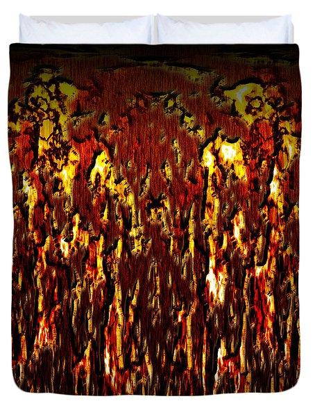 Lava And Brimstone Duvet Cover by Christopher Gaston