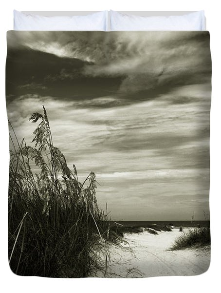 Let's go to the beach Duvet Cover by Susanne Van Hulst
