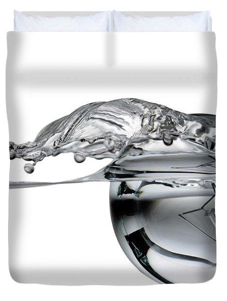 light bulb and splash water Duvet Cover by Setsiri Silapasuwanchai
