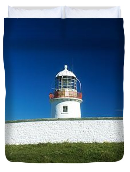 Lighthouse At St Johns Point, Donegal Duvet Cover by The Irish Image Collection