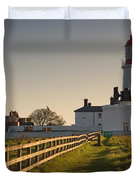 Lighthouse South Shields, Tyne And Duvet Cover by John Short