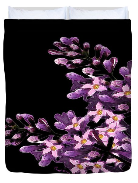 Lilacs Duvet Cover by Cheryl Young