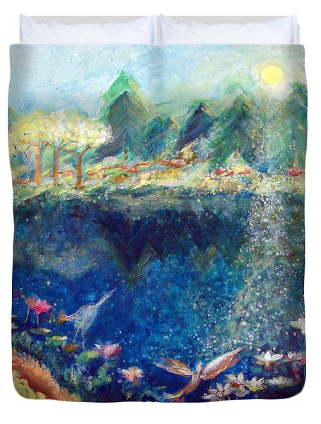 Lotus Lake Duvet Cover by Ashleigh Dyan Bayer