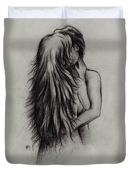 Lovers Duvet Cover by Rachel Christine Nowicki
