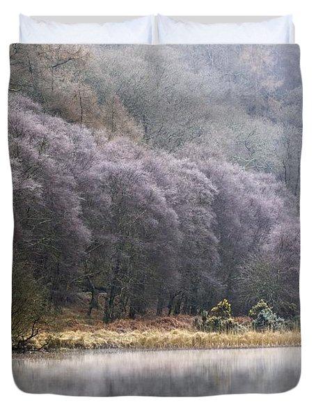 Lower Lake, Glendalough, County Duvet Cover by Peter McCabe