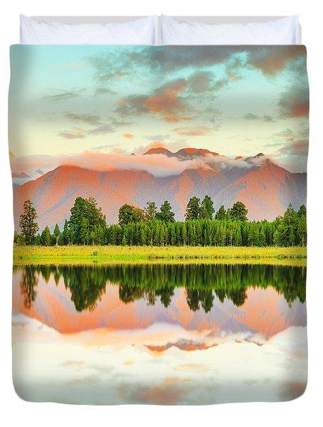 Matheson Lake Duvet Cover by MotHaiBaPhoto Prints