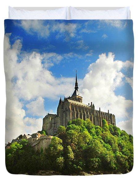 Mont Saint Michel Duvet Cover by Elena Elisseeva