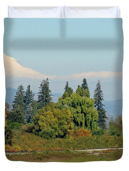 Mt. Adams In The Country Duvet Cover by Athena Mckinzie
