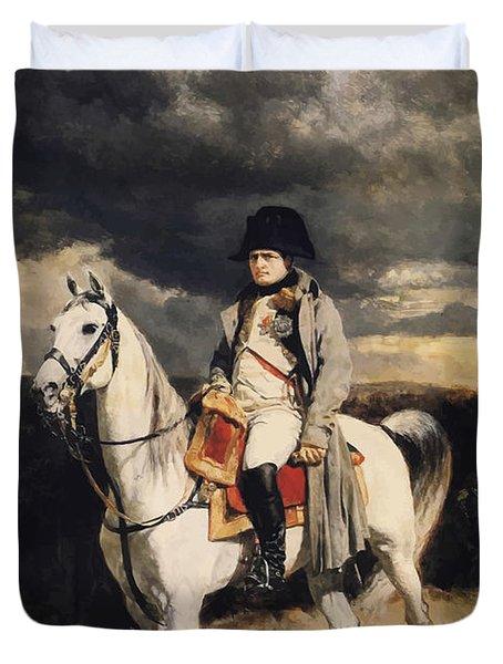 Napoleon Bonaparte On Horseback Duvet Cover by War Is Hell Store