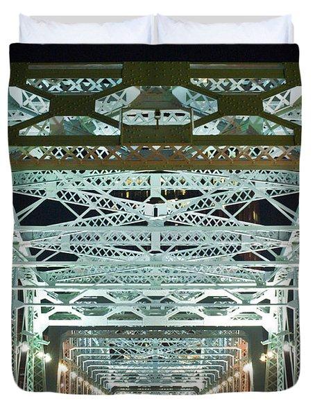 Nashville By Night Bridge 2 Duvet Cover by Douglas Barnett