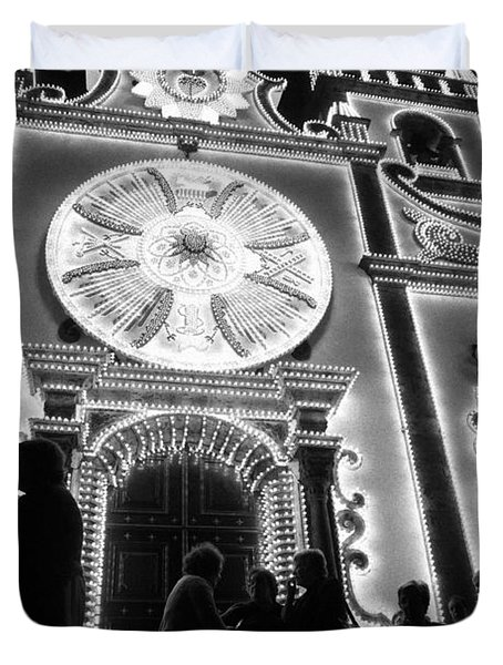 Nighttime Religious Celebrations Duvet Cover by Gaspar Avila
