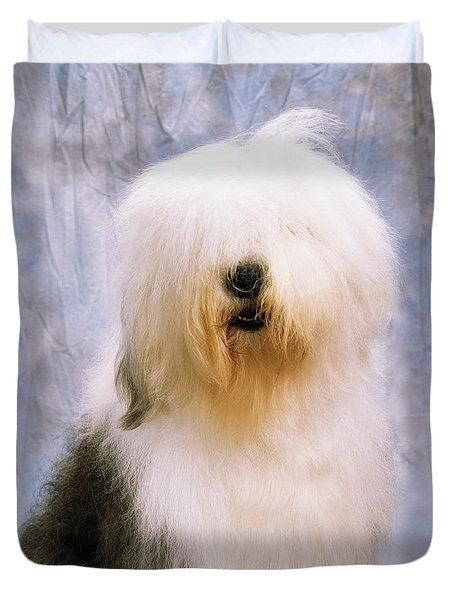 Old English Sheepdog Duvet Cover by The Irish Image Collection