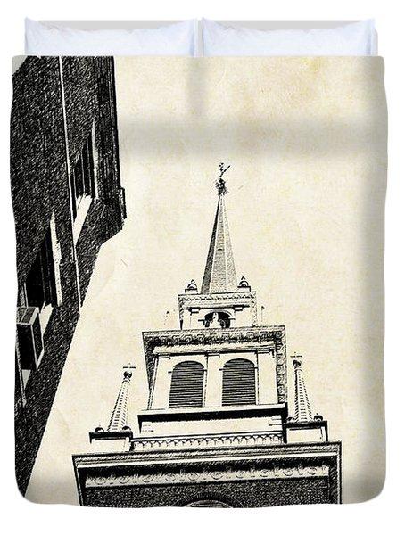 Old North Church In Boston Duvet Cover by Elena Elisseeva