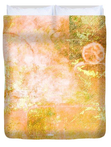 Orange Peel Duvet Cover by Christopher Gaston