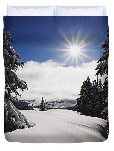 Oregon Cascades, Oregon, United States Duvet Cover by Craig Tuttle