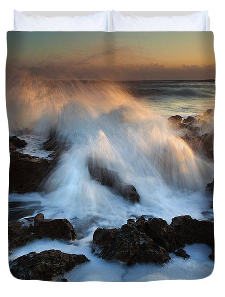 Over The Rocks Duvet Cover by Mike  Dawson