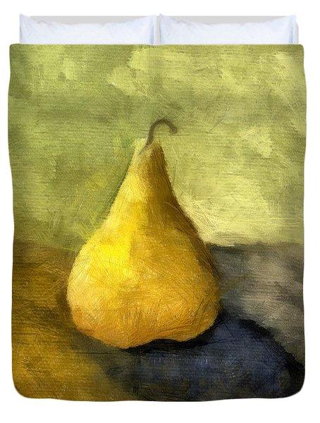 Pear Still Life Duvet Cover by Michelle Calkins