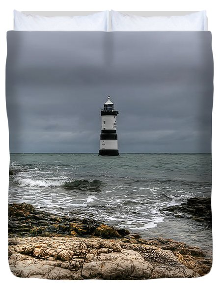 Penmon Point Duvet Cover by Adrian Evans