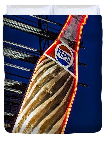 Pepsi Cola Bottle Duvet Cover by Susan Candelario