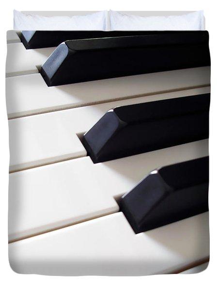 Piano Keys Duvet Cover by Carlos Caetano